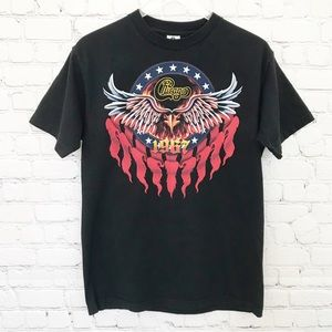 Tops - Chicago - Black Graphic Band Concert Tee